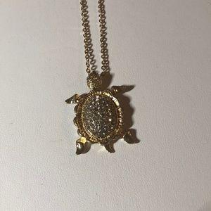 LC Lauren Conrad Gold Tone Turtle Necklace Long